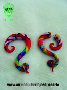 Falso Alargador feito em cerâmica plástica  www.airu.com.br/loja/dixiearte