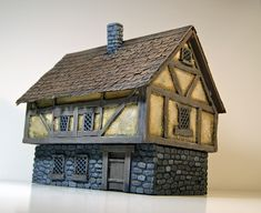 Fantasy Town, Warhammer Terrain, Medieval Houses, Dungeons And Dragons Homebrew, City Buildings, Tabletop Games, Small World, Model Homes, Home Brewing