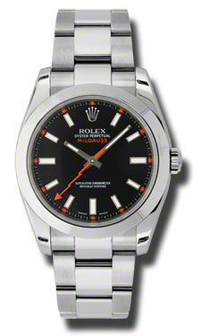 Rolex Milgauss  (Style No: 116400 bko) from SwissLuxury.Com