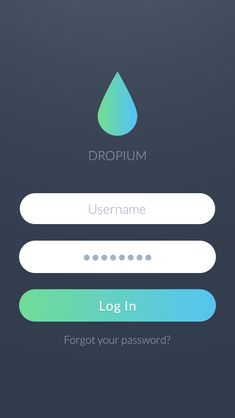 Dropium - iOS7 Login screen by Stan Mayorov
