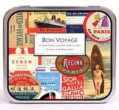 Cavallini Decorative Labels- Bon Voyage Luggage Stickers $10.99