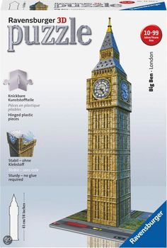 bol.com   Ravensburger 3D Puzzel Big Ben - 216 Stukjes,Ravensburger   Speelgoed