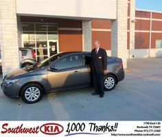 #HappyAnniversary to Billy Rice on your 2013 #Kia #Forte from Larry Upton at Southwest KIA Rockwall!