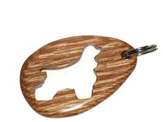 Wooden Cocker Spaniel Silhouette Keychain by KentsKrafts on Etsy