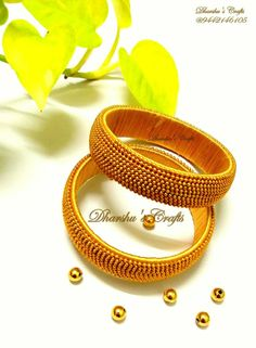 So nice Silk Thread Bangles Design, Silk Thread Necklace, Silk Bangles, Quilling Jewelry, Diy Jewelry, Beaded Jewelry, Handmade Jewelry, Fancy Jewellery, Thread Jewellery