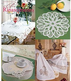il Pizzo Rinascimento book 2.  Tape and Needle Lace including Romanian Point Lace crochet. Book includes patterns on separate large sheets of paper, folded and tucked into the middle of the book.