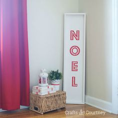 "Bold ""Noel"" Sign: 10 Tutorials and Christmas Decorating Ideas - See all 10: http://www.familyhandyman.com/smart-homeowner/10-tutorials-and-christmas-decorating-ideas"