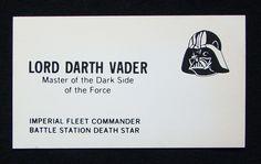 Star Wars Lord Darth Vader Business Card