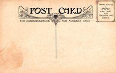 vintage postcards | Vintage Backgrounds: A Four-Pack of Postcard Backs (Set 1)