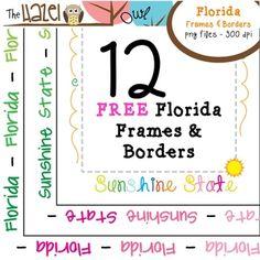 FREE Florida / Sunshine State Frames & Borders!  12 Graphics!