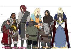 Azaghal, Bor, Maedhros, Finrod, Baroshir, Aegnor, Andrath