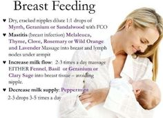 doTERRA Essential Oil tips for breastfeeding mamas! For more info, see www.FB.com/TransformationalEssentials