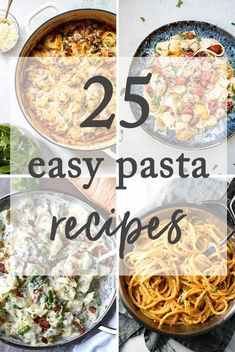 25 easy pasta recipes for busy weeknight dinners! #easyrecipes #pasta