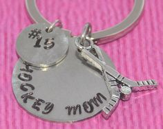Hockey Mom | Hockey Gifts | Hockey Mom Keychain | Gift for Mom | Mom Gifts | Mom gift from son  | Hockey Mom Gift | Mothers Day | Hockey | by charmedbykobe on Etsy