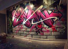 children / teen / Kids / Nursery Graffiti mural - hand painted Sean New York graffiti design #graffitibedroom #interiordesign #NYC