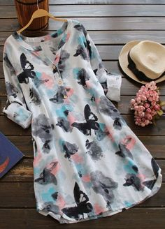 Cheap Dresses, Buy Directly from China Suppliers:ZANZEA 2018 Women SummerO Neck Long Sleeve Long Shirt Vintage Floral Print Mini Dress Casual Loose Cotton Vestido Plus Size Vestidos Vintage, Vintage Dresses, Casual Dresses, Fashion Dresses, Summer Dresses, Mini Dresses, Cheap Dresses, Floral Dresses, Casual Wear