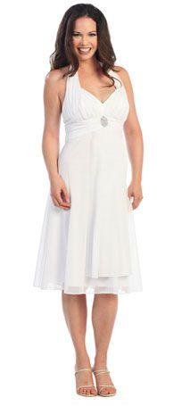 Formal Maternity Dress in White