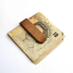 wlkr / Drevené spony na peniaze / Drevená spona na peniaze - olivovníková Money Clip, Money Clips