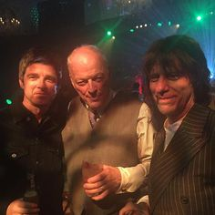 David, Jeff Beck & Noel Gallagher @ 70th Bday party