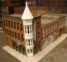 HO Scale Building Walthers Merchants Row II Built Up Painted Weathered | eBay