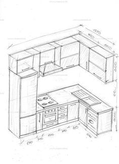 Kitchen Layout Plans, Kitchen Cabinet Layout, Small Kitchen Layouts, Kitchen Room Design, Modern Kitchen Design, Interior Design Kitchen, Cabnits Kitchen, Kitchen Measurements, Diy Kitchen Storage
