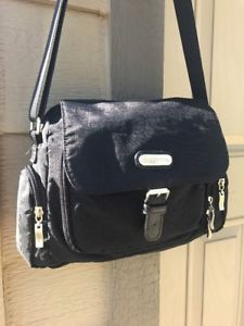 Baggallini cross body black Pouch Buckle Flap Handbag Travel Bag Organizer  | eBay