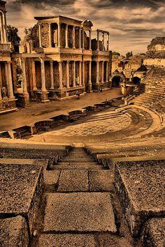 Teatro Romano / Roman Theater. | Mérida, Badajoz, Extremadura, España. #spain #roman #culture