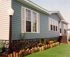 This Is A Example Mobile Home Skirting Vinyl Mobile Homes Ideas - Mobile home exterior renovations
