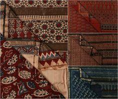 ✿ Ajrakh Chanderi & Maheshwari Silk Sarees by Sufiyan Ismail Khatri ✿