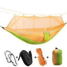 Camp Sleeping Gear Honey Profession 7 Colors Carrying Nylon Cloth Parachute Hammock Garden Camping Survival Hunting Leisure Travel Hammock Double 270*140