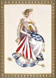 Queen of Freedom by Mirabilia - Cross Stitch Kits  Patterns