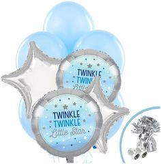 PartyBell.com - Twinkle Twinkle Little Star Blue |#Balloon Bouquet