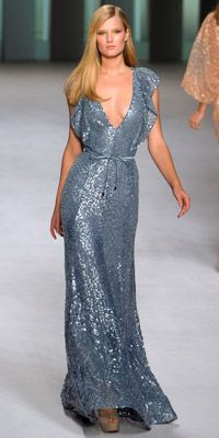 Elie Saab. Love the flow and sparkly texture.