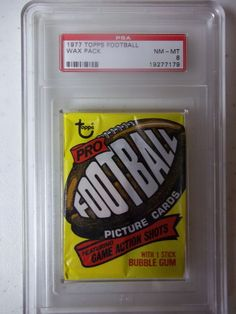 1977 Topps Football Wax Pack PSA Graded NM-MT 8  Largent RC NFL #NFLCollectible