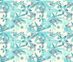OCEAN STARS fabric by bluevelvet on Spoonflower - custom fabric