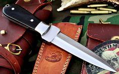 CFK USA Custom Handmade D2 Tool Steel Horn Dirk Double Edge Dagger Boot Knife #CFKCutleryCo