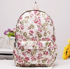 Cheap bag rose, Buy Quality bag cartoon directly from China bag piano Suppliers: bags for women lace flower printing girl student backpack back bag school bag for teenagers girl new women bag 2015 sac