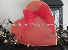 Elegant Prim Country Wood Valentine Heart by CozyExpressions, $5.00
