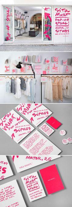 Branding for Barcelona-based pop up shop for Clase Bcn