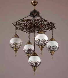 Hanging light hanging lamp floor lamp ceiling hanging lamp2 ball 5 ball ottoman turkish lamps chandelier hanging by beautyofturkey aloadofball Image collections