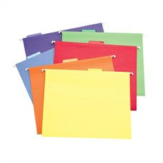 Picture of Color-Code Hanging Files - Set of 30 (includes purple)