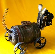 MITZY Is a robot dog created by Will Wagenaar.  http://www.etsy.com/shop/reclaim2fame
