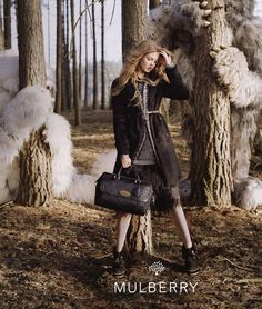 Lindsey Wixson for Mulberry Fall/Winter 2013 Campaign by Tim Walker