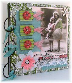 Image detail for -Scrapbook Photo Album Smash Book Christmas by StudioRoseBoutique
