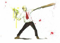 Shaun of the Dead + Banksy! Thank goodness for Lora Zombie