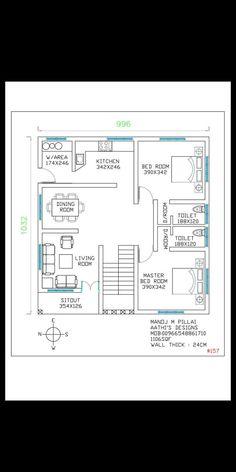 2bhk House Plan, Three Bedroom House Plan, Model House Plan, Simple House Plans, Duplex House Plans, Bungalow House Plans, New House Plans, Dream House Plans, House Floor Plans
