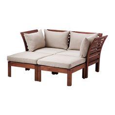 ÄPPLARÖ / HÅLLÖ 2-pers. sofa med 2 puffer, ude IKEA