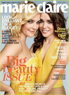 Drew Barrymore y Ellen Page