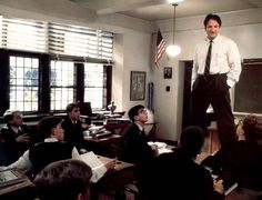 """Professor Keating of """"Dead Poets Society"""" 