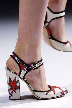 Fashiontribes: Miu Miu's chunk heeled superhero print shoes are ... #miumiushoes